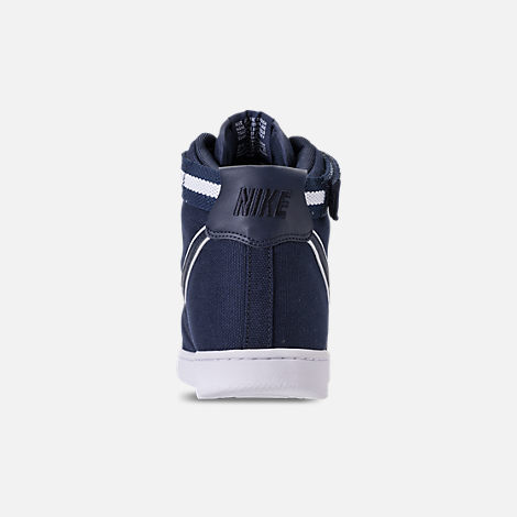 Back view of Men's Nike Vandal High Supreme Casual Shoes in ObsidianWhite
