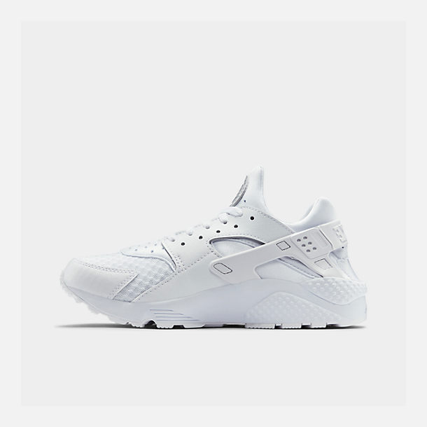 Right view of Men's Nike Air Huarache Run Casual Shoes in White/White/Pure Platinum