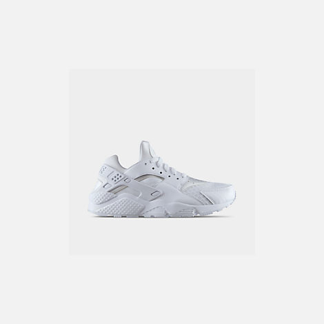 Front view of Men's Nike Air Huarache Run Casual Shoes in White/White/Pure Platinum