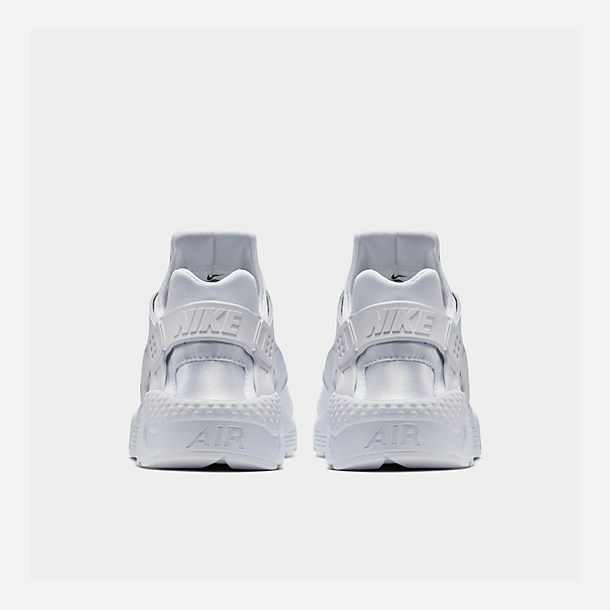 Left view of Men's Nike Air Huarache Run Casual Shoes in White/White/Pure Platinum