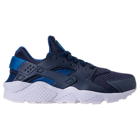 d4e1d059c178 Nike Men S Air Huarache Run Running Sneakers From Finish Line In Obsidian Gym  Blue-
