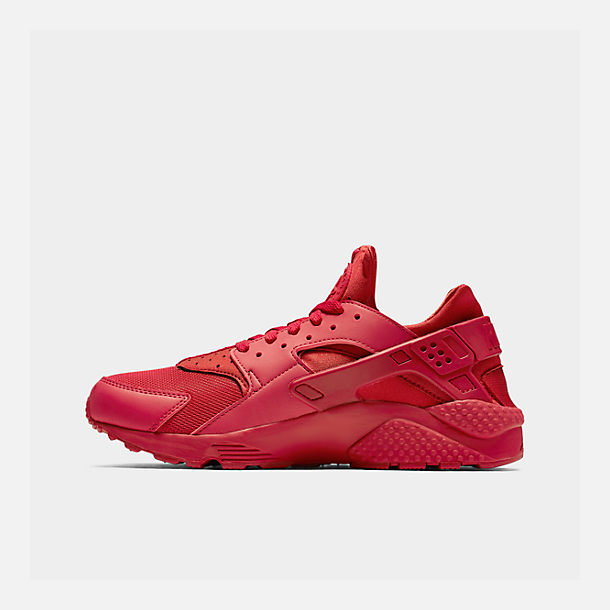 Right view of Men's Nike Air Huarache Run Running Shoes in Red/Red