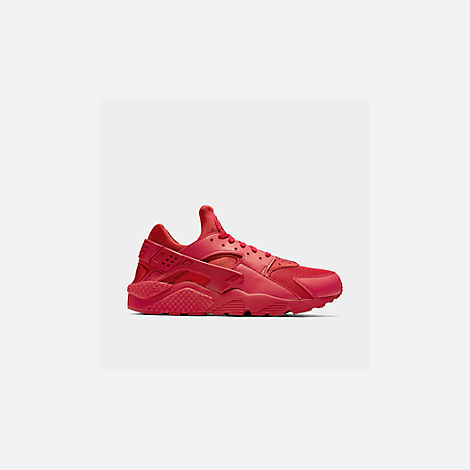 Front view of Men's Nike Air Huarache Run Running Shoes in Red/Red