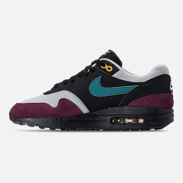 f4a8cd6ba152 Left view of Women s Nike Air Max 1 Casual Shoes in Black Geode Teal