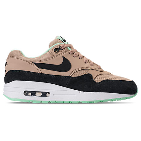 Nike Leathers WOMEN'S AIR MAX 1 CASUAL SHOES, PINK/BLACK