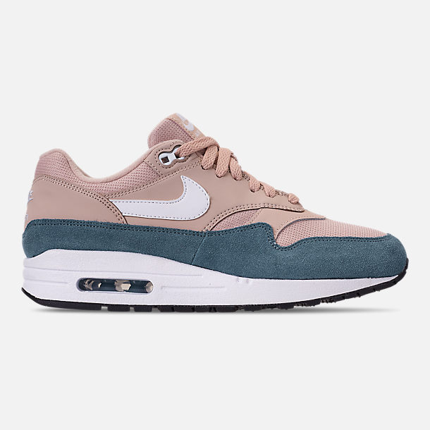 Right view of Women's Nike Air Max 1 Casual Shoes in Celestial Teal/White/Particle Beige