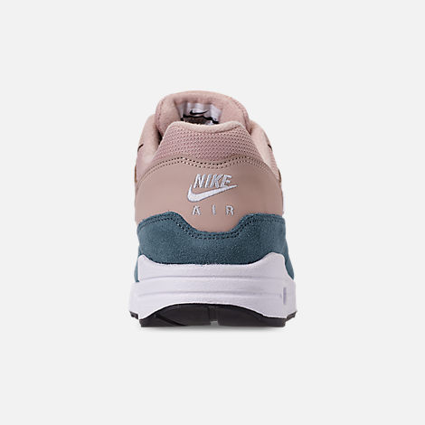 Back view of Women's Nike Air Max 1 Casual Shoes in Celestial Teal/White/Particle Beige