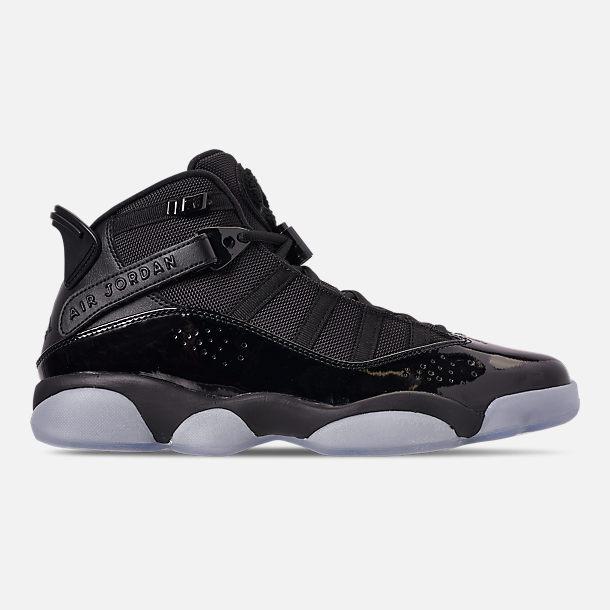 wholesale dealer 3ba01 4440b Right view of Men s Air Jordan 6 Rings Basketball Shoes in Black White Black