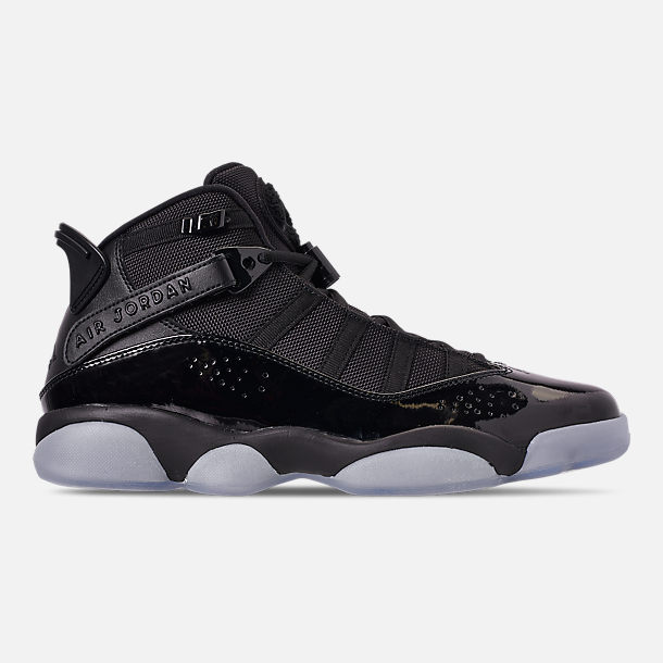 wholesale dealer 62642 d9139 Right view of Men s Air Jordan 6 Rings Basketball Shoes in Black White Black
