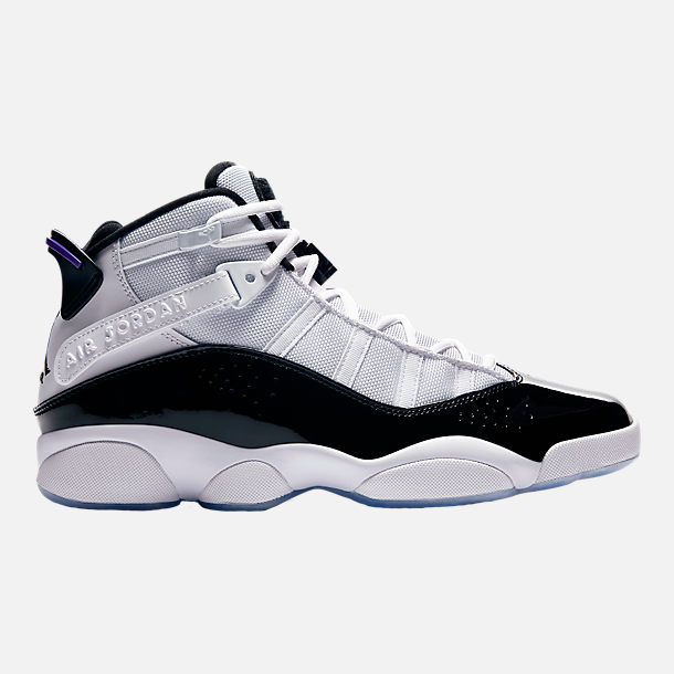 timeless design b0cf8 78103 Right view of Men s Air Jordan 6 Rings Basketball Shoes in White Black  Concord
