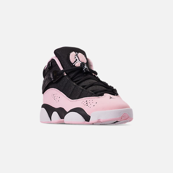 pick up b342a d515e Three Quarter view of Girls  Big Kids  Jordan 6 Rings Basketball Shoes in  Barely