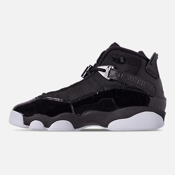 a852e25f321f Left view of Big Kids  Jordan 6 Rings Basketball Shoes in Black Black