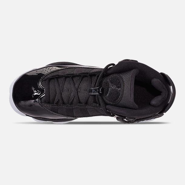 f41bb5ddf62d Top view of Big Kids  Jordan 6 Rings Basketball Shoes in Black Black