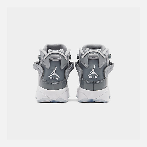Left view of Boys' Big Kids' Jordan 6 Rings Basketball Shoes in Cool Grey/White/Wolf Grey
