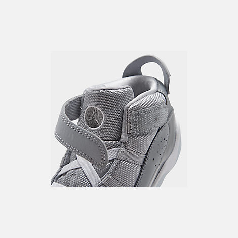 the latest d4690 bd3ea Front view of Boys  Toddler Air Jordan 6 Rings Basketball Shoes in Cool Grey