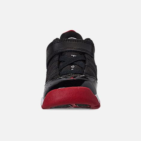 6deb05610dfd Front view of Boys  Toddler Air Jordan 6 Rings Basketball Shoes in Black  Varsity