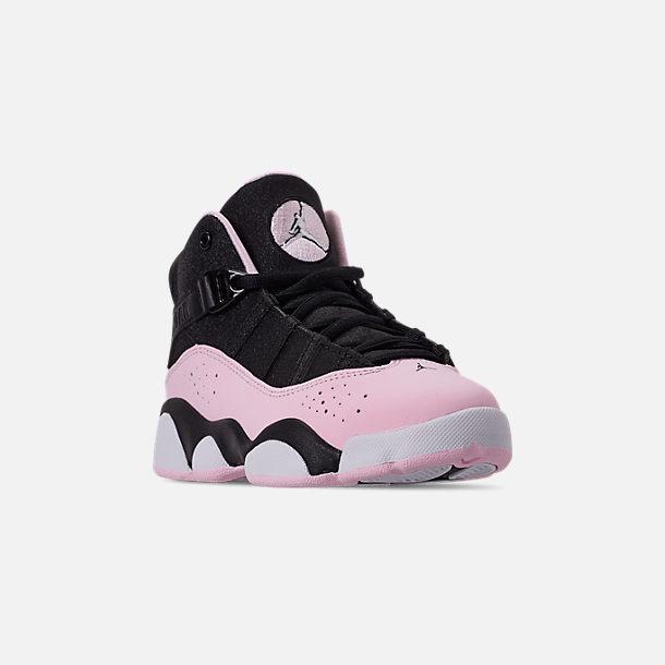 buy popular d868d bb327 Three Quarter view of Girls  Little Kids  Air Jordan 6 Rings Basketball  Shoes in