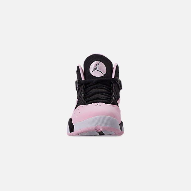 ae2773dac93 Front view of Girls' Little Kids' Air Jordan 6 Rings Basketball Shoes in  Black
