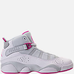 Girls' Preschool Air Jordan 6 Rings Basketball Shoes