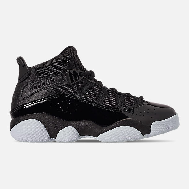 820cfb8cb81 Right view of Boys  Little Kids  Air Jordan 6 Rings Basketball Shoes in  Black