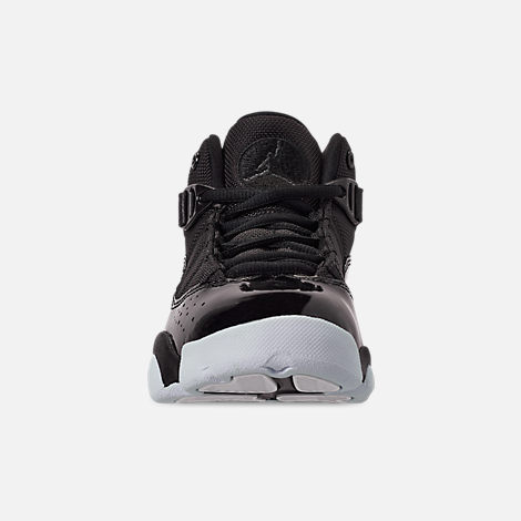 Front view of Boys  Little Kids  Air Jordan 6 Rings Basketball Shoes in  Black 26132338f