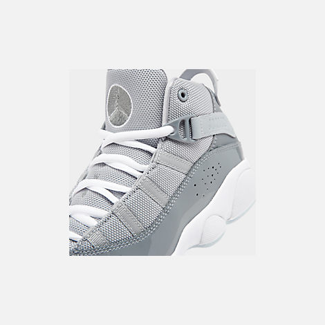 san francisco ea49c 5f16f Front view of Boys  Little Kids  Air Jordan 6 Rings Basketball Shoes in Cool