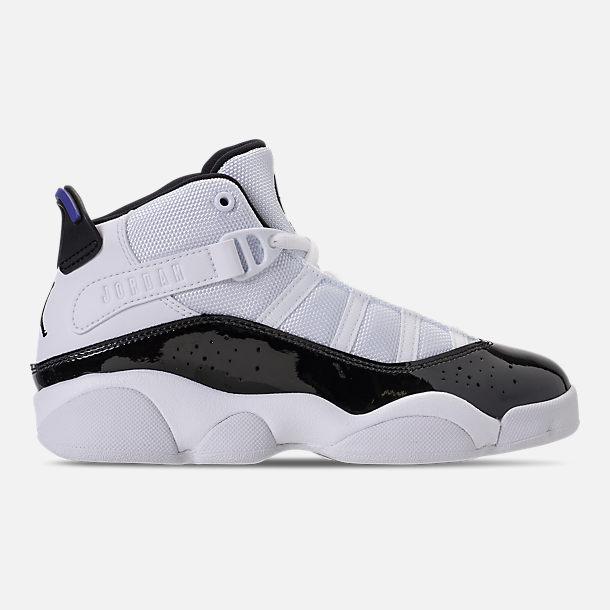 1d4ca63e6fcc Right view of Boys  Little Kids  Air Jordan 6 Rings Basketball Shoes in  White