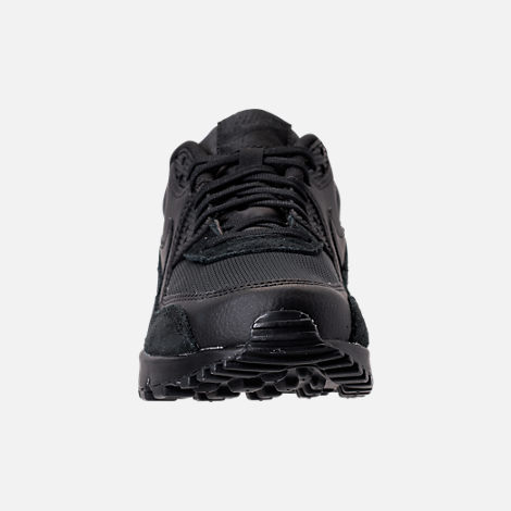Front view of Women's Nike Air Max 90 Running Shoes in Black/Black/Black