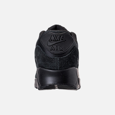 Back view of Women's Nike Air Max 90 Running Shoes in Black/Black/Black