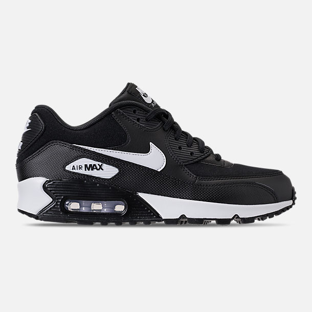 Right view of Women's Nike Air Max 90 Casual Shoes in Black/White