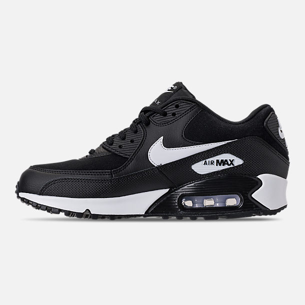 Left view of Women's Nike Air Max 90 Casual Shoes in Black/White