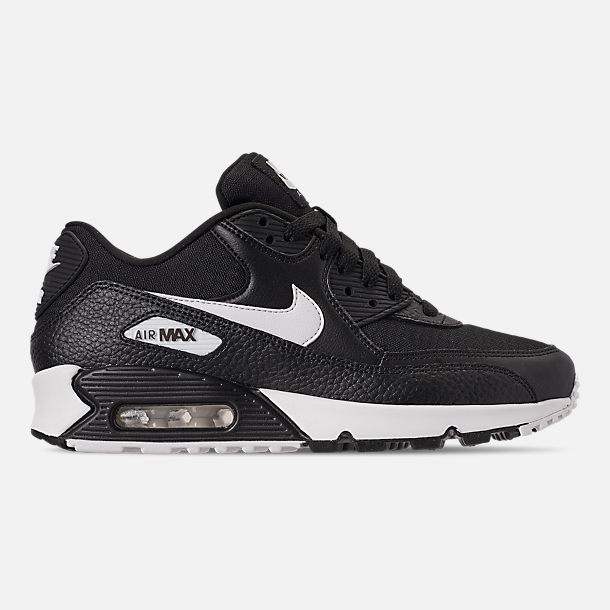 Right view of Women's Nike Air Max 90 Casual Shoes in Black/Summit White/Black