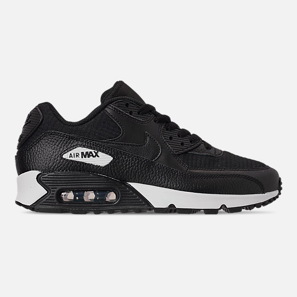 Right view of Women's Nike Air Max 90 Casual Shoes in Black/Black/Black/White