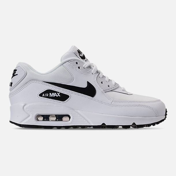 Right view of Women's Nike Air Max 90 Casual Shoes in White/Black