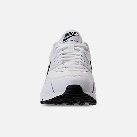 Front view of Women's Nike Air Max 90 Casual Shoes in White/Black