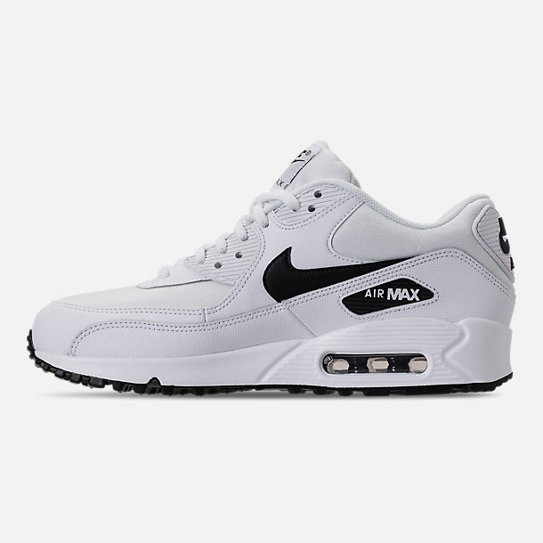 Left view of Women's Nike Air Max 90 Casual Shoes in White/Black