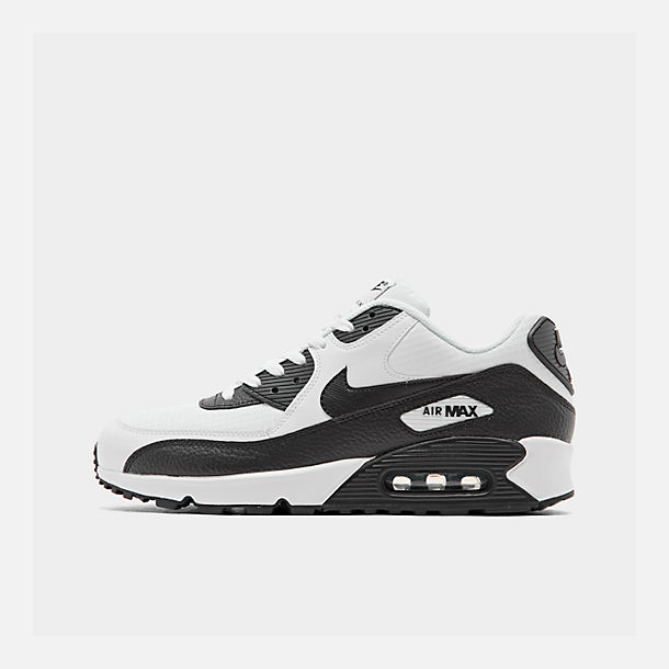 Right view of Women's Nike Air Max 90 Casual Shoes in White/Black/Black/White
