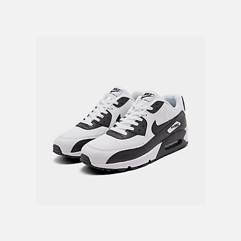 Three Quarter view of Women's Nike Air Max 90 Casual Shoes in White/Black/Black/White