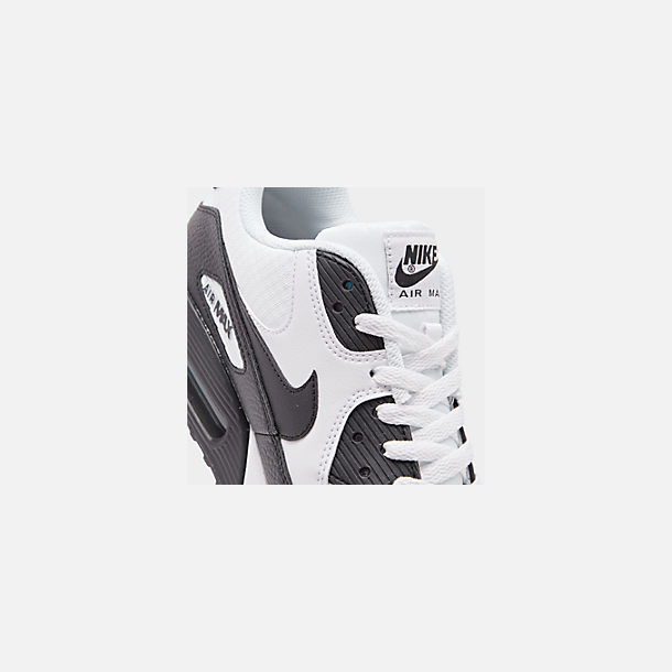 Front view of Women's Nike Air Max 90 Casual Shoes in White/Black/Black/White