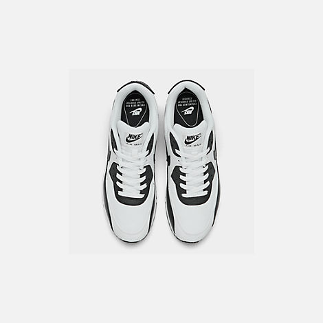 Back view of Women's Nike Air Max 90 Casual Shoes in White/Black/Black/White