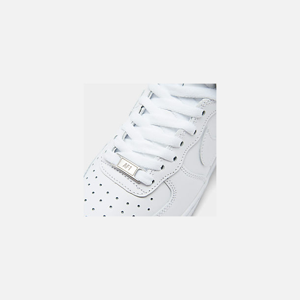 Front view of Women's Nike Air Force 1 High Casual Shoes in White/White/White