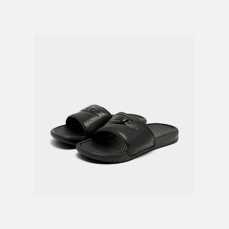 abed21db5 Three Quarter view of Men s Nike Benassi JDI Slide Sandals in Black