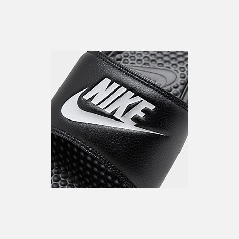quality design 09114 ad6f4 Front view of Men s Nike Benassi JDI Slide Sandals in Black White