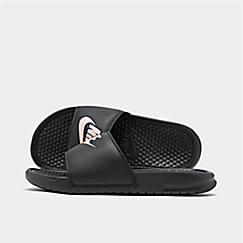 Women s Nike Benassi JDI Swoosh Slide Sandals 0ac5e6e66