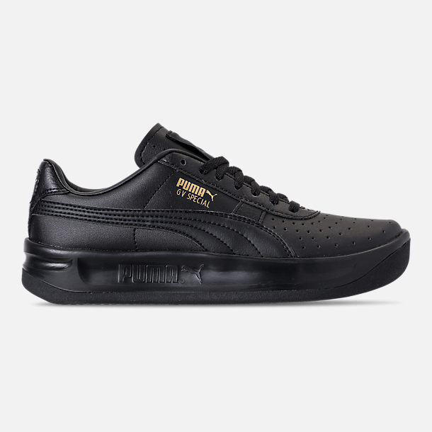 Right view of Boys' Big Kids' Puma The GV Special Casual Shoes in Black/Black/Metallic Gold