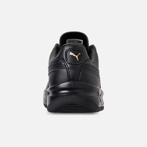 Back view of Boys' Big Kids' Puma The GV Special Casual Shoes in Black/Black/Metallic Gold