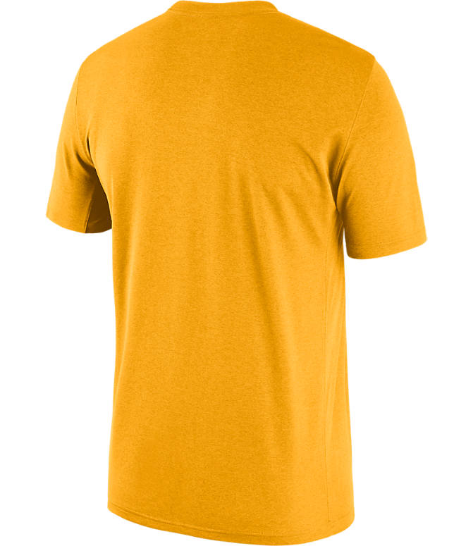 Back view of Men's Nike LSU Tigers College Legend Staff T-Shirt in Gold