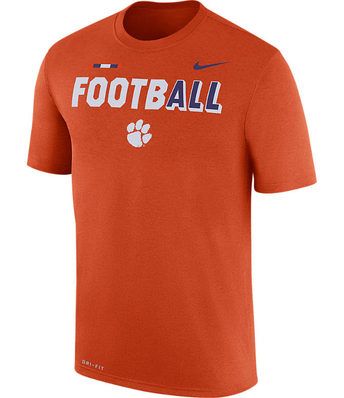 Front view of Men's Nike Clemson Tigers College All Sideline T-Shirt in Orange
