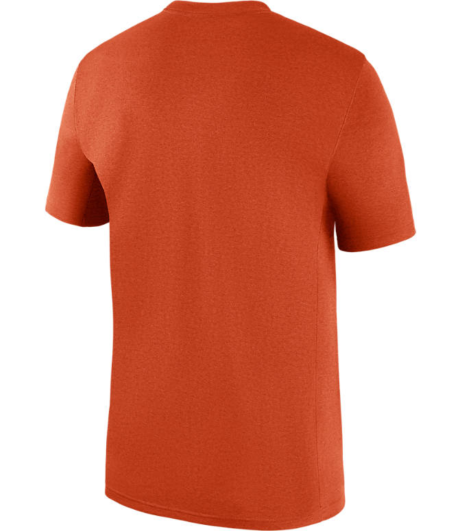 Back view of Men's Nike Clemson Tigers College All Sideline T-Shirt in Orange