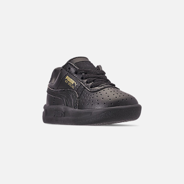 Three Quarter view of Boys' Toddler Puma The GV Special Casual Shoes in Black